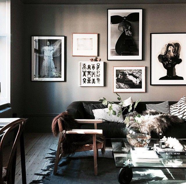 Lotta Agaton's livingroom art wall