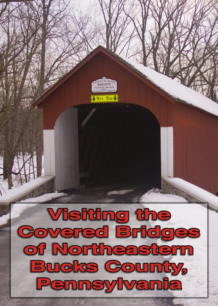 Bucks County, Pennsylvania is home to 12 beautiful covered bridges. Here are photos, history, and directions for five of them: http://uncoveringpa.com/visiting-the-covered-bridges-of-bucks-county-pennsylvania