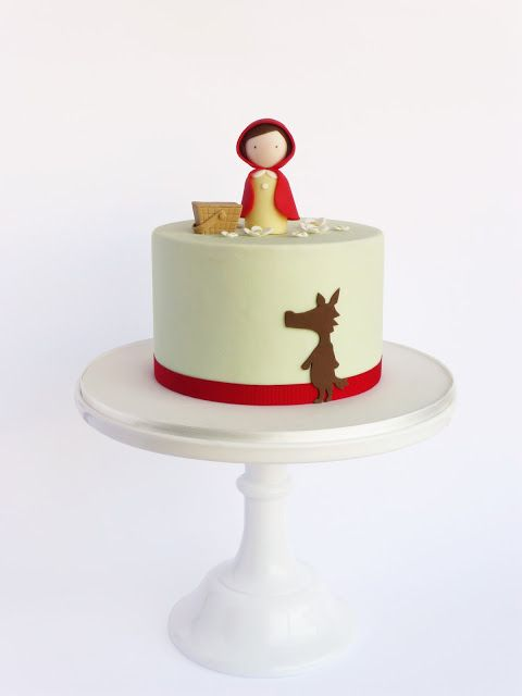 Peaceofcake ♥ Sweet Design - Little Red Riding Hood party cake. I love the simplicity.