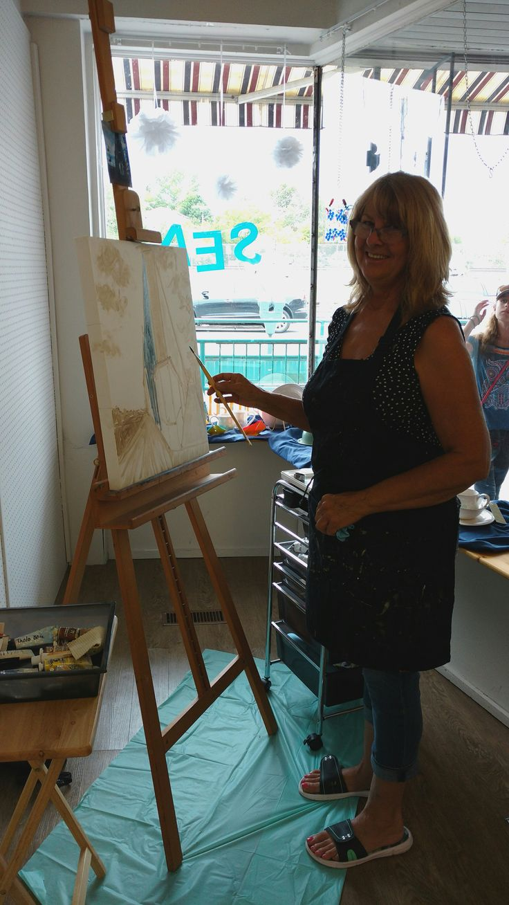 Anita Bunt- oil painting demonstration