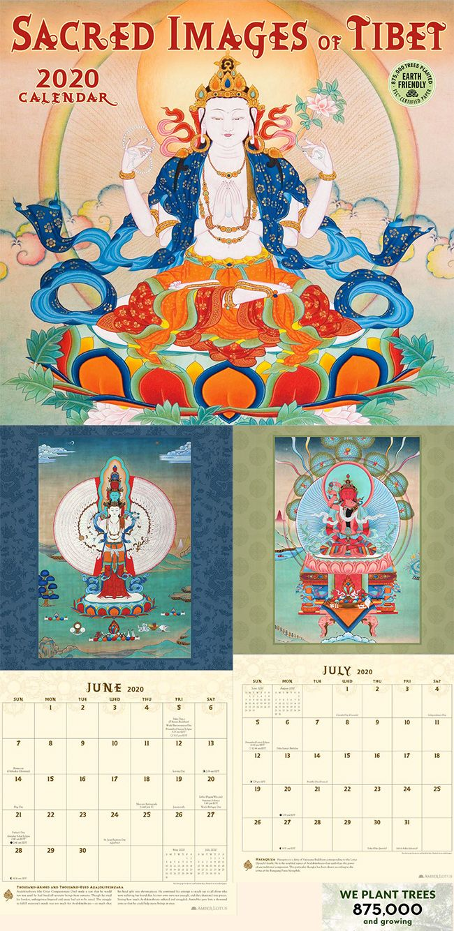 Sacred Buddhist Images Calendar 2021   Thangka, Thangka painting