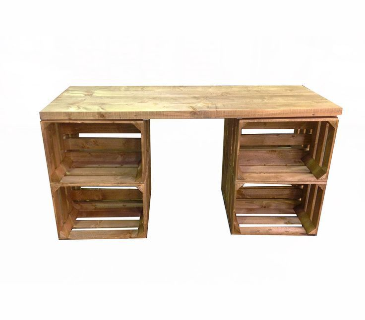 Desks Made From Wooden Crates