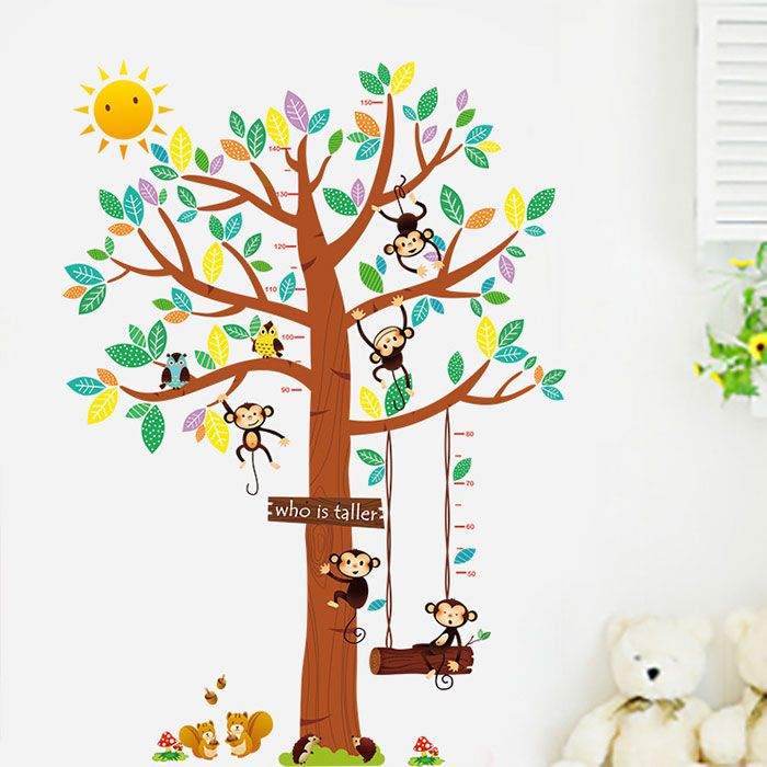 Majmok napsütéses játszófája magasságmérő falmatrica. #majom #maki #monkey #magasságmérő #gyerekszobafalmatrica #falmatrica #gyerekszobadekoráció #gyerekszoba #matrica #faldekoráció #dekoráció
