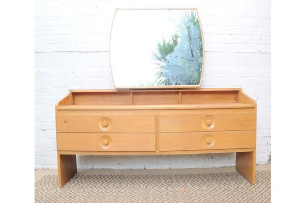 Retro Dressing Table With Mirror | Vinterior   #20thcentury #vintage #dressing_table