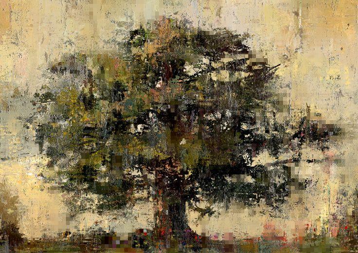Tree study. Digital paint.