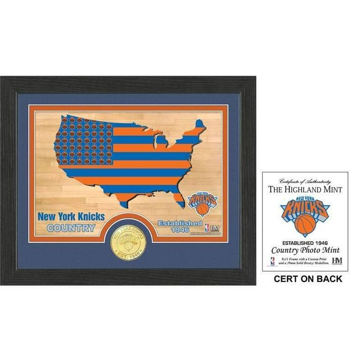 "New York Knicks ""Country"" Photo Mint"
