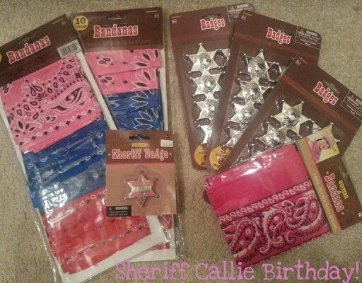Sheriff Callie Birthday stuff at Party City!
