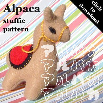Alpaca sewing pattern #DIY: Plushies, Sewing, Craft, Patterns, Toy, Felt, Softie Pattern, Alpacas