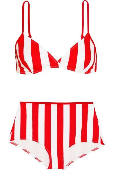 Solid and Striped | The Brigitte striped bikini | NET-A-PORTER.COM