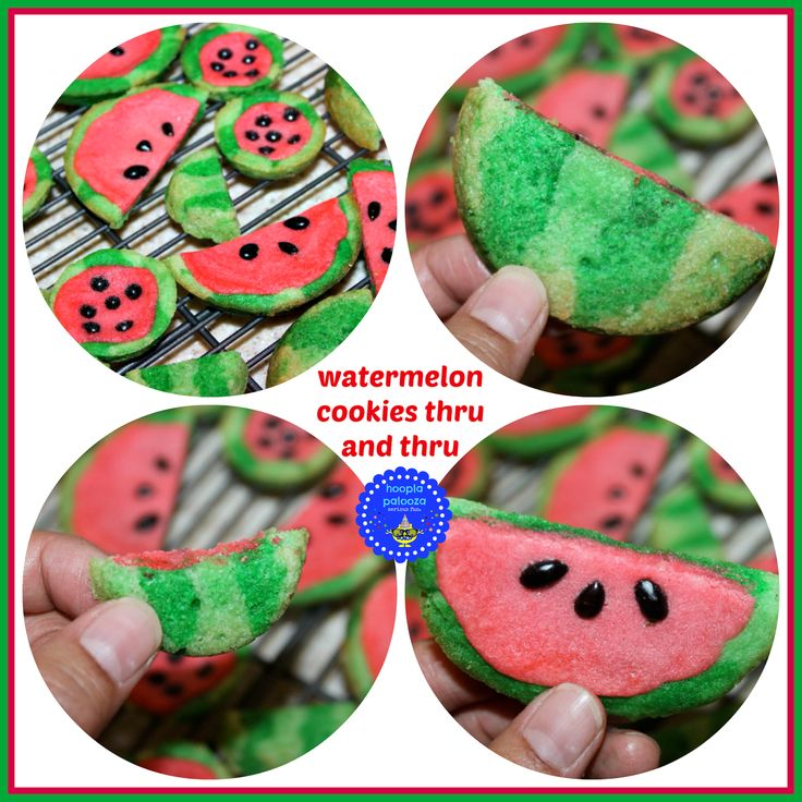 Could these be any more fun for summer? I don't think so! Watermelon sugar cookies DIY from Hoopla Palooza