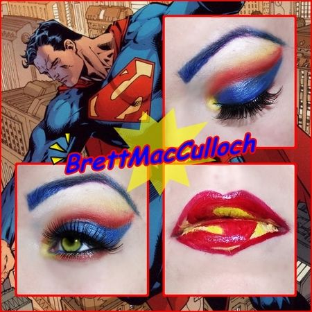 Superman Inspired by Brett MacCulloch http://www.makeupbee.com/look.php?look_id=81263