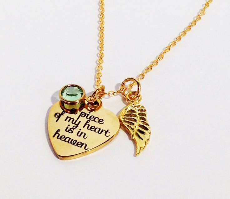 Memorial Necklace Gold, Memorial Gift, Memorial Jewelry, Sympathy Gift, Memorial Jewelry Dad, Loss of Mother, Loss of Husband, Loss of Baby by SincereImpressions on Etsy