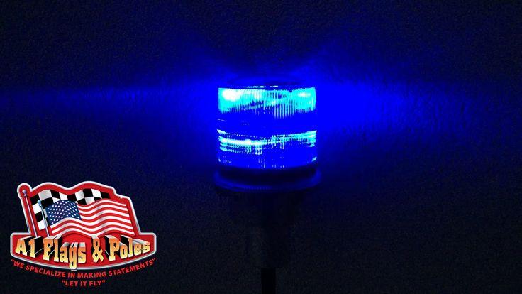 solar lights for flag illumination