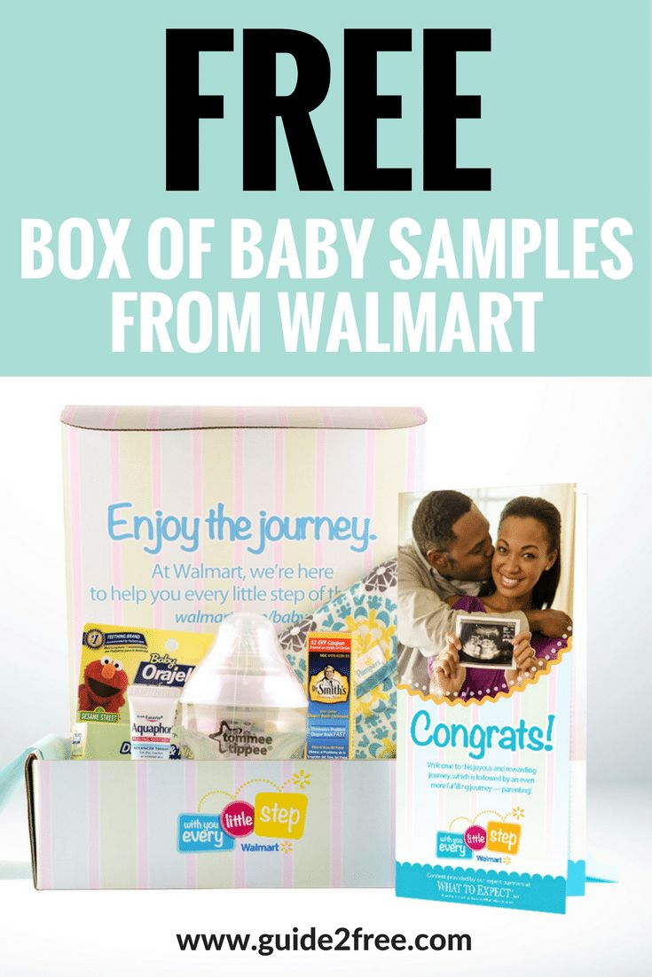Get a FREE Baby Samples Box from Walmart!!  Expecting moms can score this free box full of products for baby shipped by mail for free.  It has tons of freebies inside! via @guide2free
