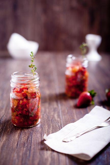 Тартар из клубники с помидорами от Винсента Лесни