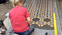 Victorian Tiles on Sheets | Sheeted Floor Tiles | London Mosaic