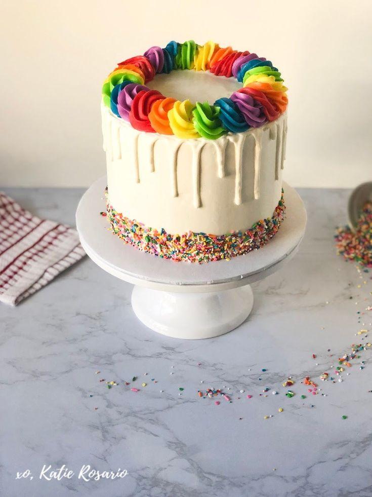 Regenbogen-Tropfenfänger-Kuchen  – Cake Decorating for Beginners