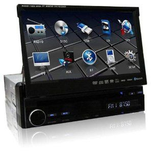 HD 7 Inch 1 Din In Dash Car Video DVD Player GPS Bluetooth Nav iPod USB TV EU+ U…