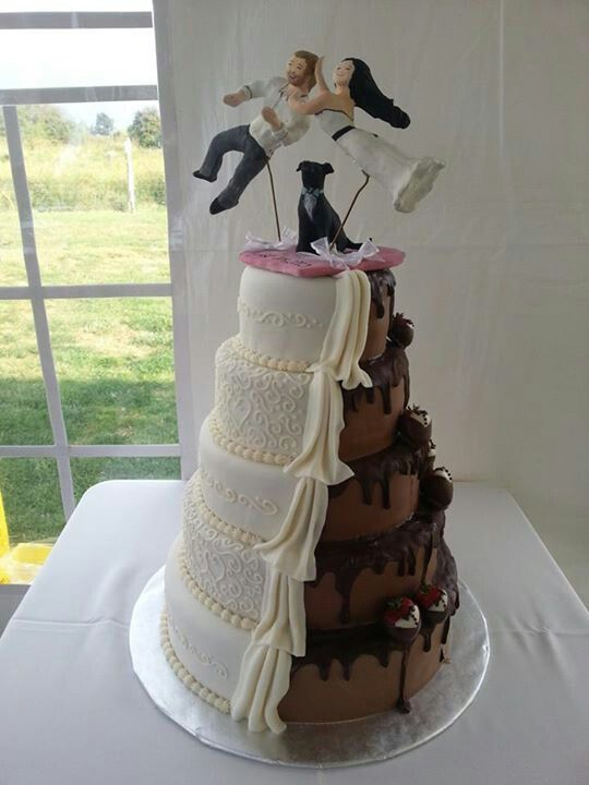 Double Sided Wedding Cake Chocolate And Marshmallow