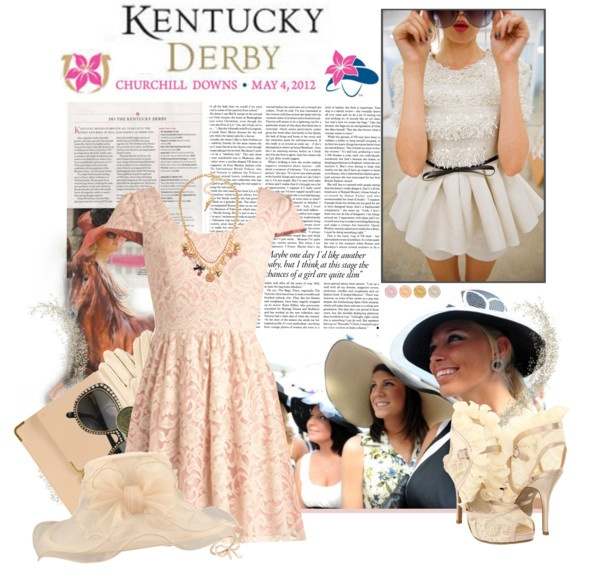 """Kentucky Derby 2012 ♡"" by fluffiness ❤ liked on Polyvore"