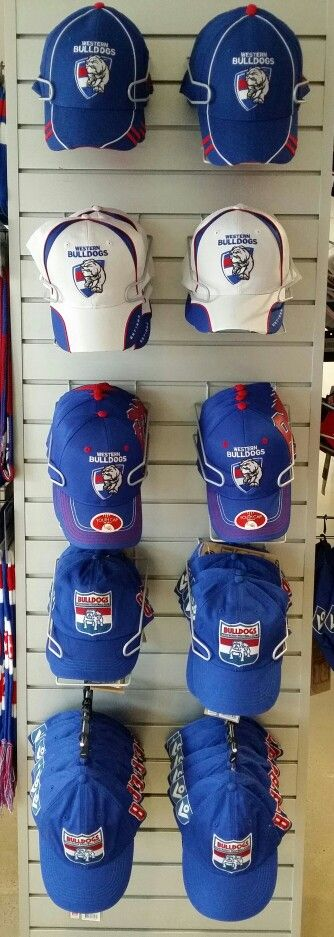 2015 Western Bulldogs Playcorp range of Caps! Adult and Youth sizes available at Bulldogs Shop!  #bemorebulldog
