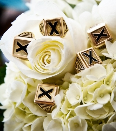 Some beautiful X-Rings which are given out to grads on December 3rd each year.