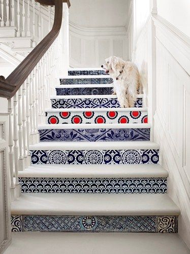 Laurie Frankel / Interiors / http://www.at-edge.com/commercial-photographer.aspx/LaurieFrankel #interiors #home #design #stairs #dog #commercialphotography #inspiration #interiordesign #patterns