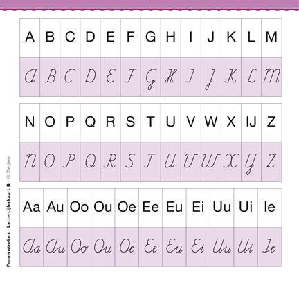 Pennenstreken - hoofdletters