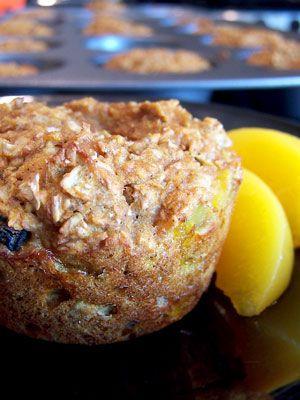 Spicy Peach Bran Muffins - 2pts