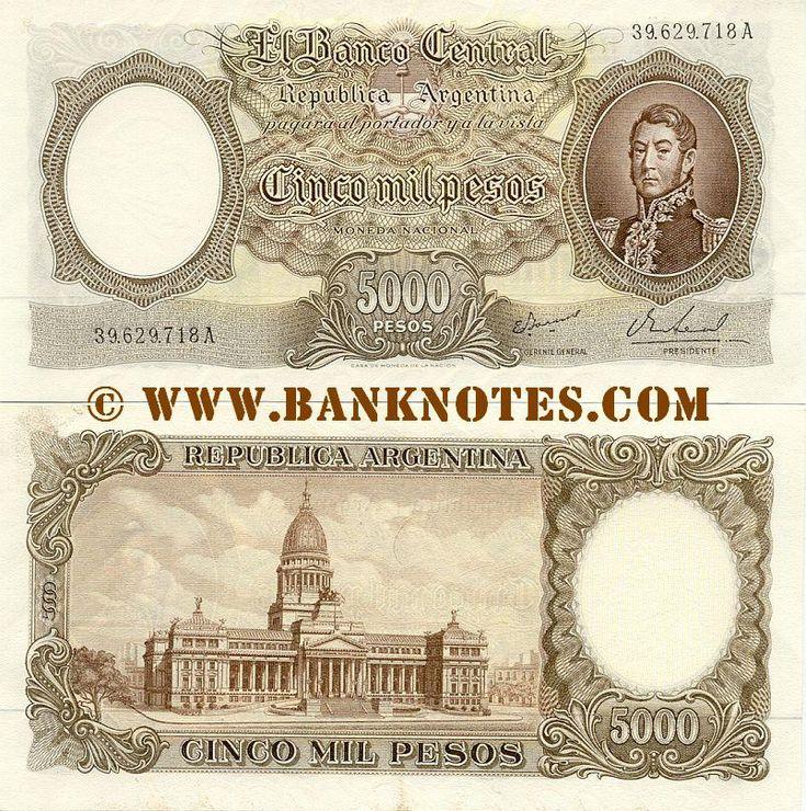 Argentina 5000 Pesos (1962-1969)