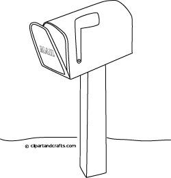 mailbox coloring pages for kids | Baa is for Bareed ( Mail, بريد) post box mailbox coloring ...