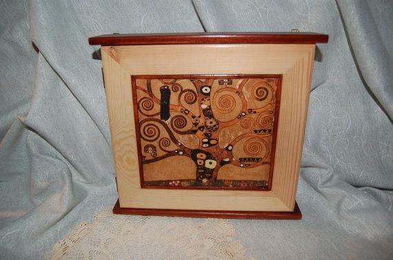 Key holder with Klimt LifeTree square