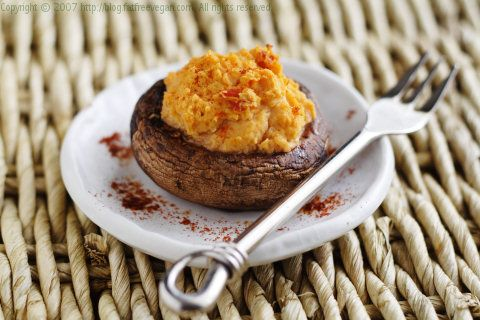 Stuffed with Red Pepper Red lentils (replace hummus with brown rice ...