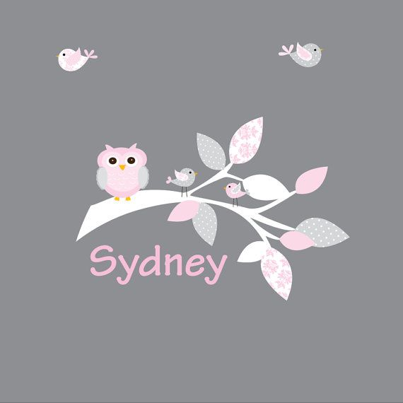 Decal Vinyl Wall Decals Branch with Owl by Modernwalls on Etsy