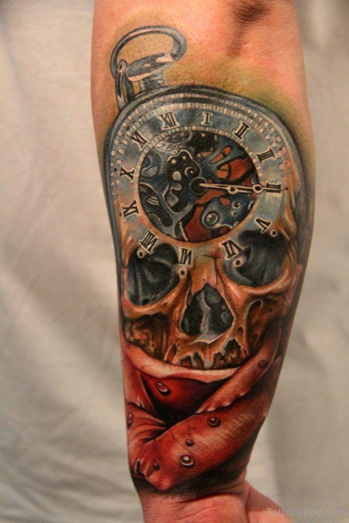Taschenuhr mit totenkopf tattoo  513 besten Tattoo - Skulls Bilder auf Pinterest | Tattoo-Designs ...