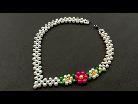 How To Make//A Beautiful Pearl Necklace//At Home// Useful & Easy – YouTube