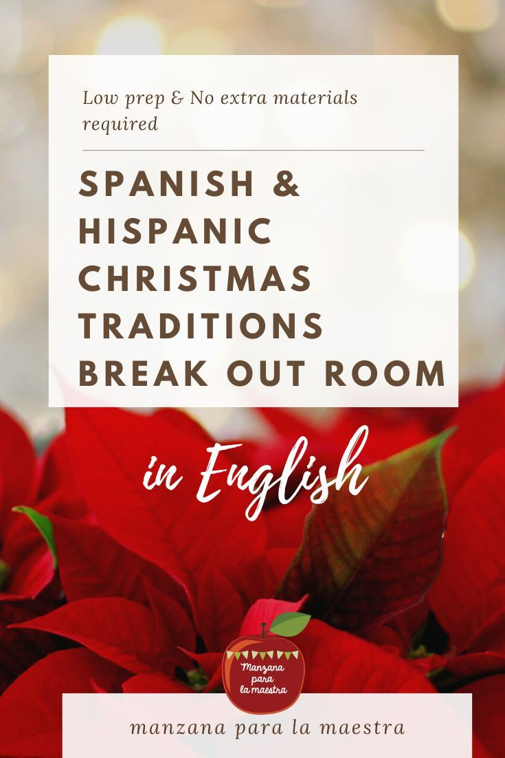 Spanish Christmas Traditions Break Out Room Spanish Escape Game In English Learning Sight Words Spanish Christmas Traditions Learn Spanish Online