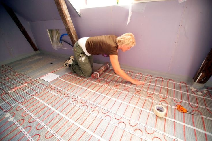 szobai fűtőszőnyeg telepítése