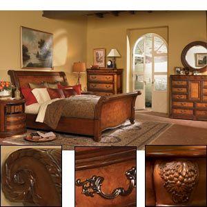 Aspenhome Napa Sleigh Bedroom Set In Cherry