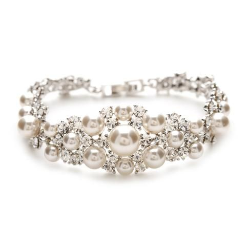Lauren Crystal & Pearl Bracelet