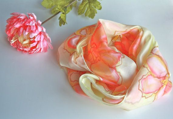 Scarf Silk scarf Womens scarves Unique handmade by BelgianBoutique