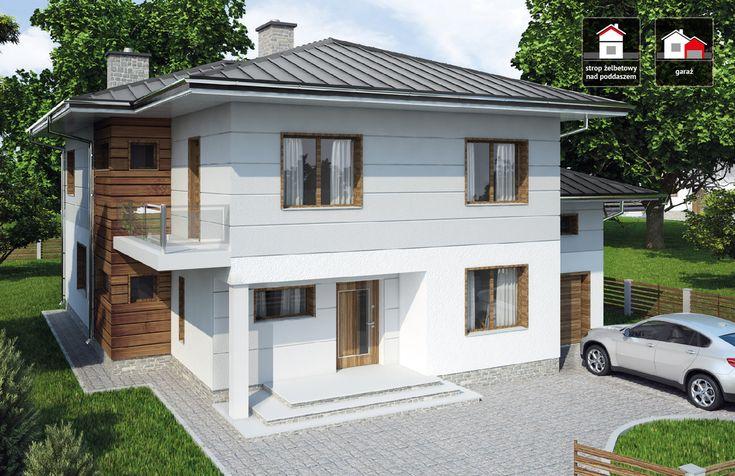 DOM.PL™ - Projekt domu DTD PANAY CE - DOM DT1-14 - gotowy projekt domu
