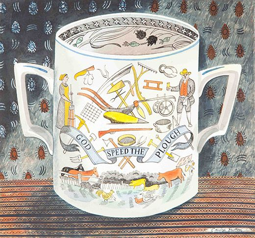 Emily Sutton. Victorian Crockery 'God Speed the Plough'