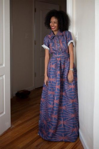 Maxi shirtdress - must make! This article will not show you how to make the Maxi dress. However, I did discover that she's a beautiful girl with natural beauty for her face. She also names other products for her hair.