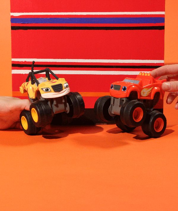 High tire! Blaze and Stripes are ready for action!