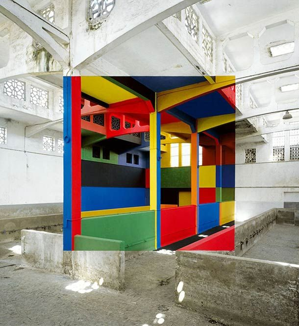 A selection of anamorphosis by French artist Georges Rousse, a pioneer of the genre. Some beautiful creations between optical illusion and play of perspective,
