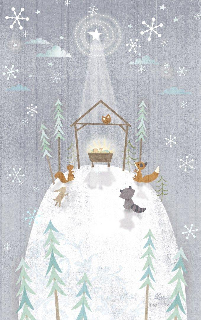Christmascard Countdown seen on HappyMakersBlog.com ~ Illustration : lynngainesdesign