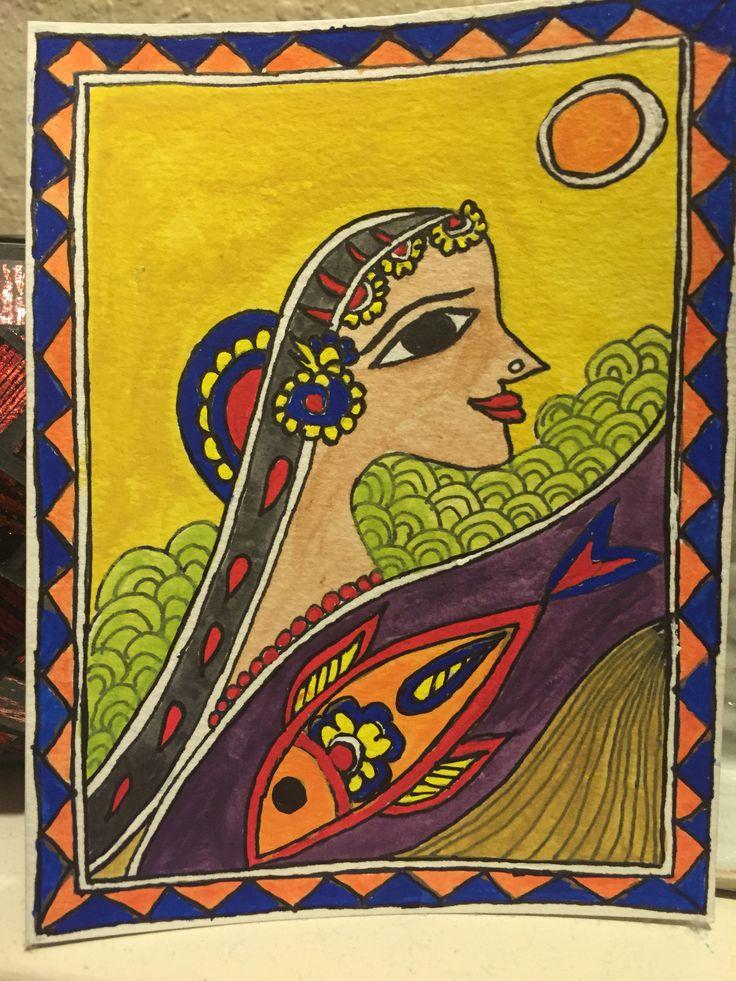 Madhubanipainting on paper