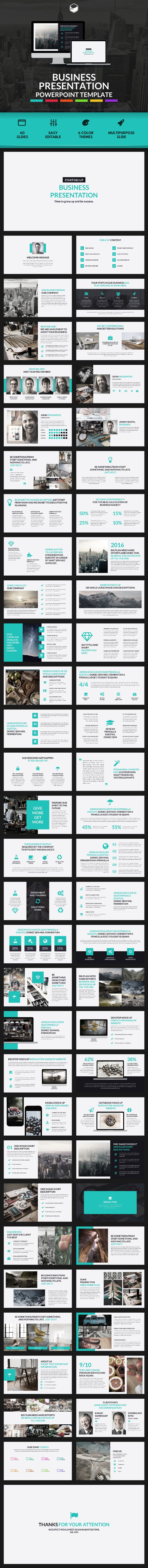 Business Presentation - PowerPoint Template - Business PowerPoint Templates Download here: https://graphicriver.net/item/business-presentation-powerpoint-template/18273188?ref=classicdesignp