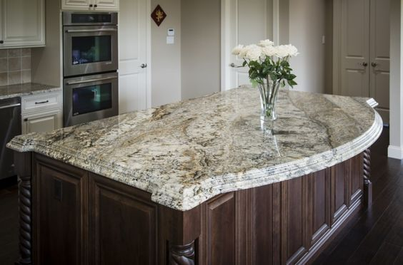 Another Rich Cream Granite With Light Brown And Black